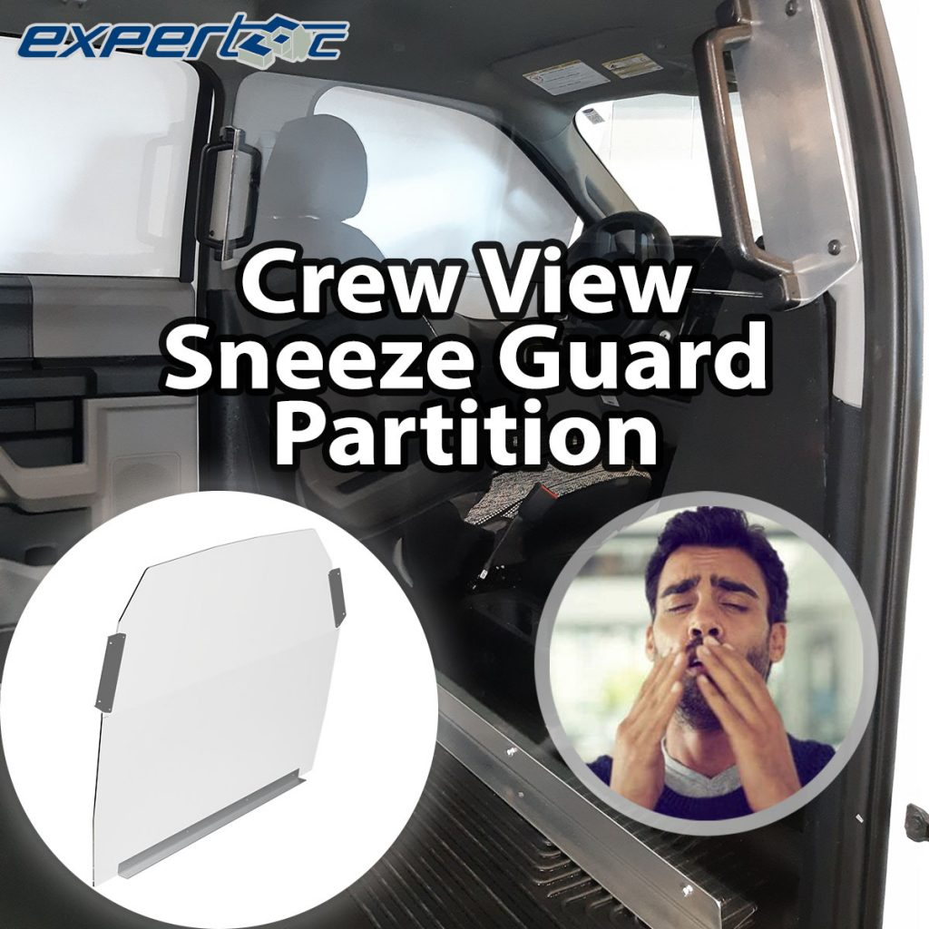 Crew View Sneeze Guard Partition Square