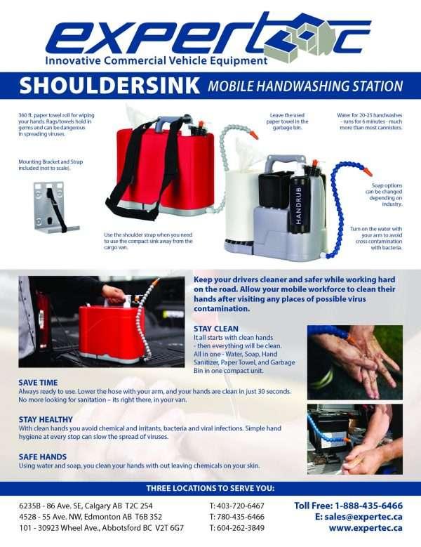 Shoulder Sink Mobile Hand Washing Station