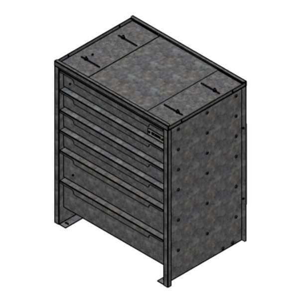 Galvanized Eco Service Drawer For Trailers, Box Trucks & Service Bodies
