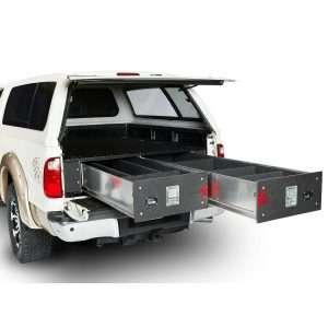 Cargo Ease Truck Bed Sliding Locker - 2 Drawers, 12 inch Height