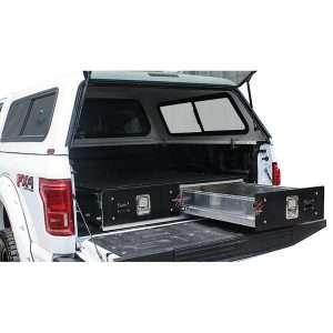 Cargo Ease Truck Bed Sliding Locker - 2 Drawers, 9 inch Height