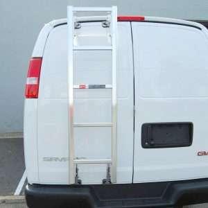 Prime Design Rear Door Ladder for Chevrolet Express and GMC Savana Vans